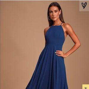 Lulus Mythical Kind of Love Navy Blue Maxi Dress